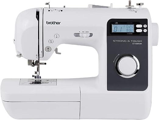 Brother ST150HDH máquina de coser computarizada fuerte y resistente, color blanco: Amazon.es: Hogar