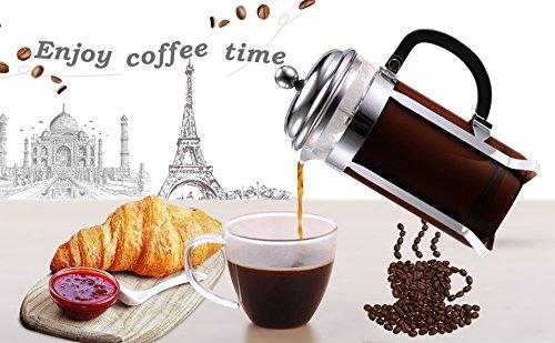 sailnovo 8 taza cafetera prensa francesa cafetera, - de cristal (1 L, 34 oz: Amazon.es: Hogar