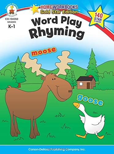 Word Play: Rhyming, Grades K - 1: Gold Star Edition (Home Workbooks)