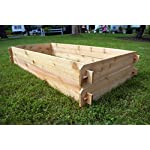 Timberlane Gardens Raised Bed Kit Double Deep, Western Red Cedar Mortise Tenon Joinery, 3' W x 6' L 10 Raised garden bed kit proudly made in homer glen, Illinois USA Constructed of select western red cedar Handcrafted mortise & tenon joinery