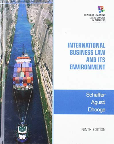 Bundle: The Legal Environment Today, Loose-leaf Version, 8th + International Business Law and Its Environment, 9th + MindTap Business Law, 1 term (6 ... Today - Summarized Case Edition, 8th