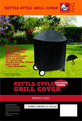 Kettle Grill Cover - American Home and Gardening Kettle Style BBQ Grill Cover - 30