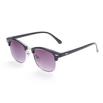 Gafas de sol polarizadas, parcialmente sin montura, diseño de marca, gafas