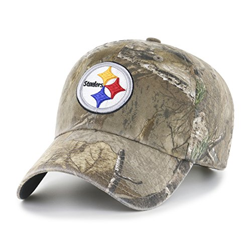 Nfl Hat (NFL Pittsburgh Steelers Realtree OTS Challenger Adjustable Hat, Realtree Camo, One Size)