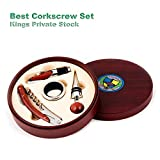 Best Quality Corkscrew Set,Winner BUYERS CHOICE AWARDS, Waiters Corkscrew Set, Corkscrew Wine Opener, Wedding Gift, Groomsmen Gift, by Kings Private Stock