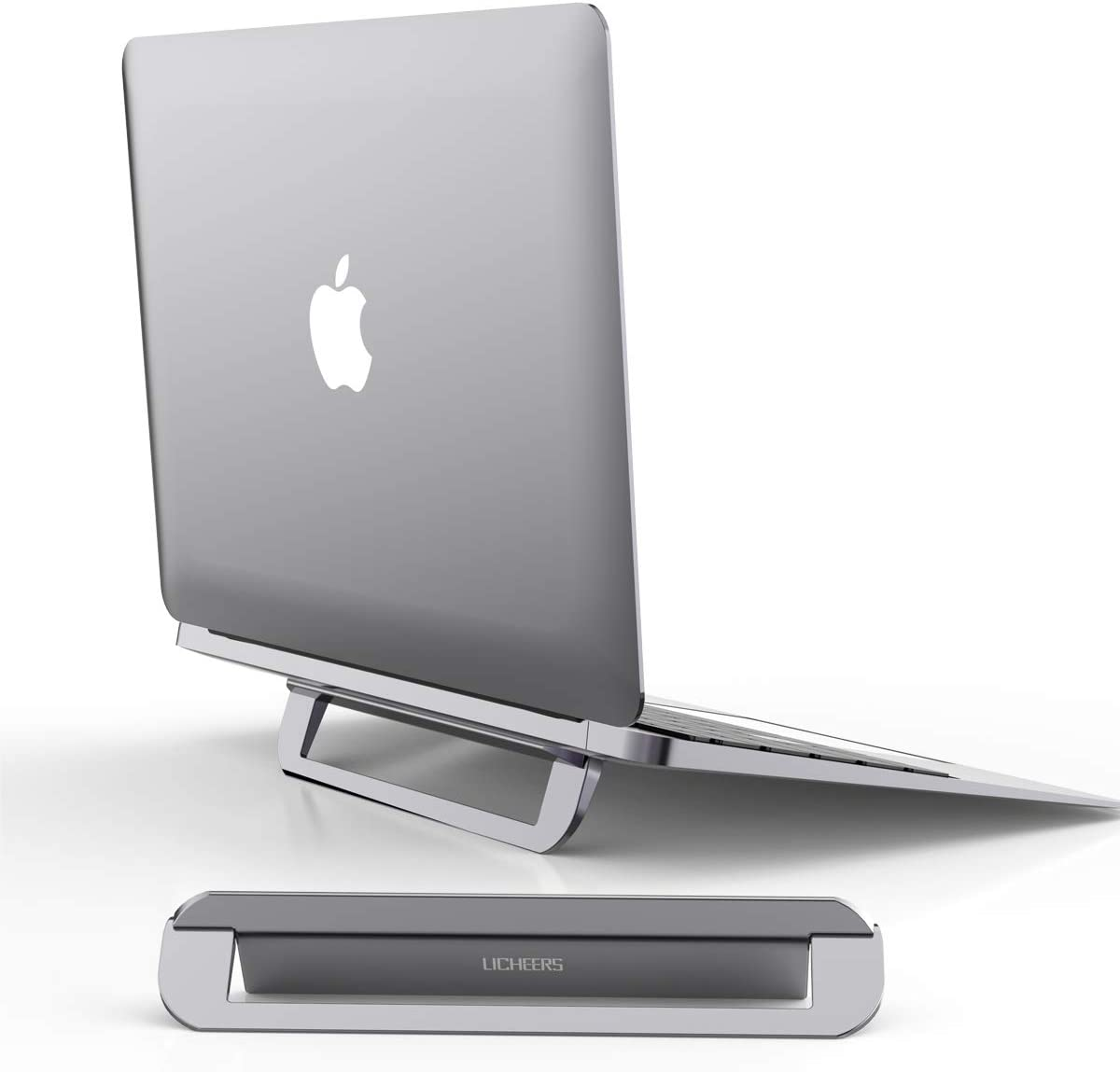 Laptop Stand, Licheers Invisible Aluminum Notebook Stand for Desk, Foldable Laptop Holder Compatible with All 10