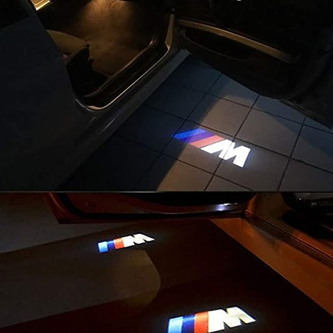4 St/ück Einstiegsbeleuchtung T/ür Willkommen Licht Projektion Lampe T/ürbeleuchtung Kompatibel mit BMW Forepin Auto LED Projektor