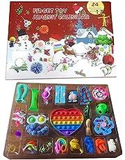 Pop It Fidget Toys, Fidget Toy Advent Calendar, Christmas Advent Calendar 2021, Advent Calendar Toy Set, 24 Days Christmas Countdown Calendar Toys, Christmas Count Down Gift for Kids Adults
