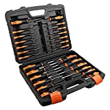 TACKLIFE 26PCS Magnetic Screwdriver Set with Case, Includs Slotted/Phillips/Torx Precision Screwdriver, Repair Tool Kit...