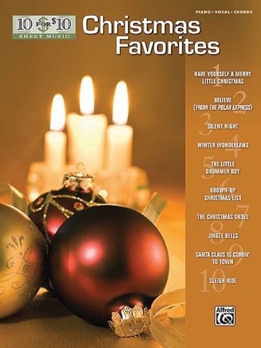 Download 10 For 10 Sheet Music: Christmas Favorites Piano/Vocal/Chords pdf