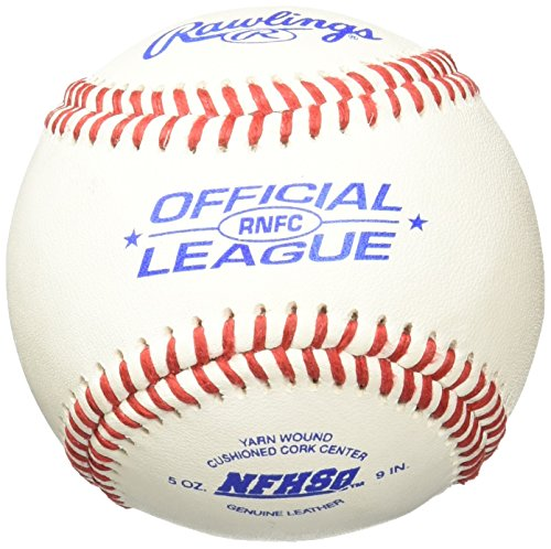 Rawlings Men's High School Game Ball Cushioned Cork Center (Pack of 12), Leather, White by Rawlings
