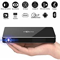 FLOLATIDIA F8 Mini Projector, DLP Led Pico Video Projector For iPhone and Andriod Phone,With 120 inch Display HD Home Theater Family Cinema,Support Wifi/Hdmi/Bluetooth/USB/TF Card/Audio Cable