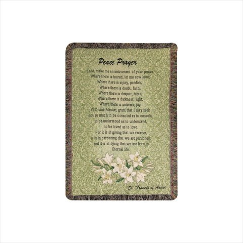 Manual Inspirational Collection 52 X 32-Inch Tapestry Throw,