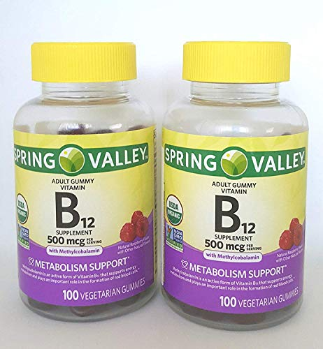 SPRING VALLEY B12, 500 MCG, 200 GUMMIES