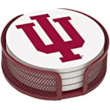 Thirstystone VINU2-HA22 Stoneware Drink Coaster Set with Holder, Indiana University