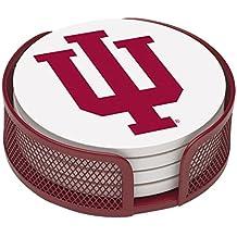 Thirstystone VINU2-HA22 Stoneware Drink Coaster Set with Holder, Indiana University