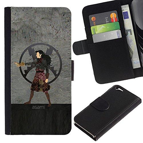 Funny Phone Case // Cuir Portefeuille Housse de protection Étui Leather Wallet Protective Case pour Apple Iphone 6 / Asami /