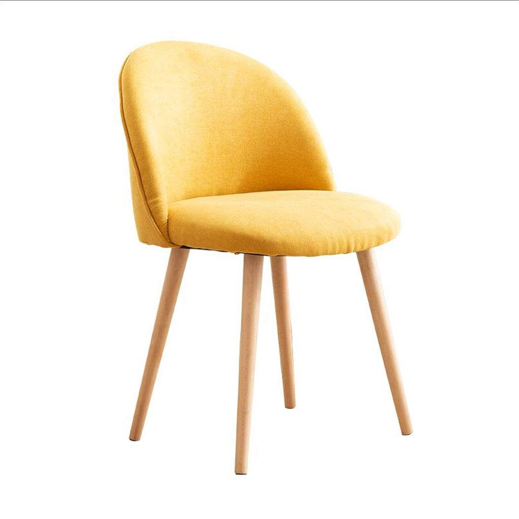 Yellow Alpine Chair with high Resilience Sponge Cushion and Eucalyptus (color   Yellow)