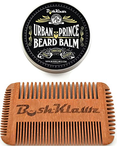 urban prince beard balm conditioner beard butter moisturizer and 4klawz pocket beard comb gift. Black Bedroom Furniture Sets. Home Design Ideas