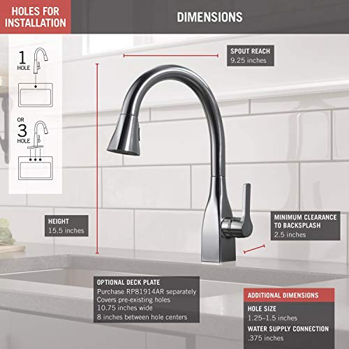 Delta Faucet 9183 Ar Dst Mateo Single Handle Pull Down