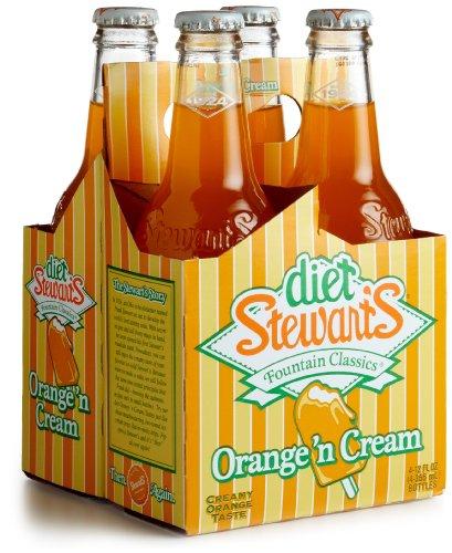 - Stewart Sodas, Diet Orange N Cream, 4pk, 12 oz