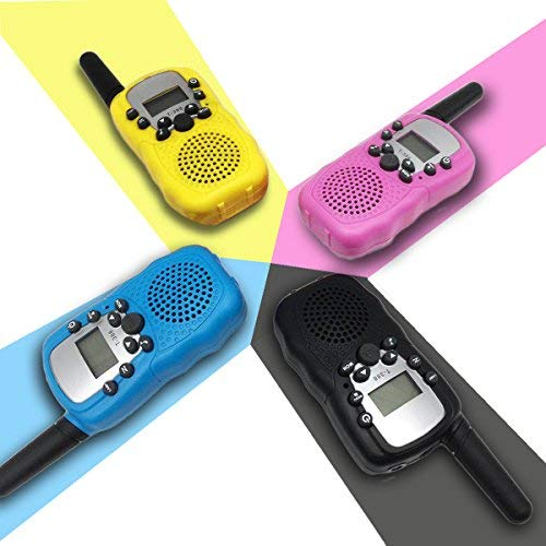 4Pack Kids Rechargeable Walkie Talkie Girls Boys Long Range Two Way Radio 22 Channel LED Flashlight Marine Cruise FRS Camping Accessories Toys Hiking Family Games Outdoor Holiday Birthday Gifts by iGeeKid (Image #1)