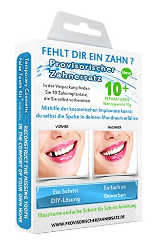 3 opinioni per Cosmetic Teeth Uk- Kit cosmetico per sostituzione temporanea di denti mancanti