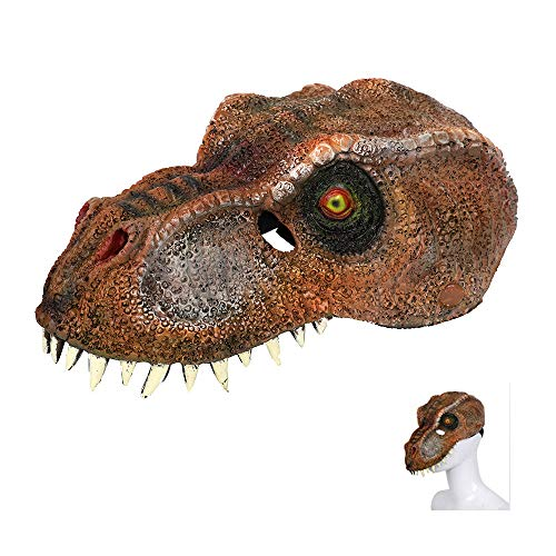 3D Dinosaur Mask for Adult, Halloween Party Mask Mardi Gras Animal Costume Dragon Dinosaur Cosplay Masquerade Face Mask Stage -