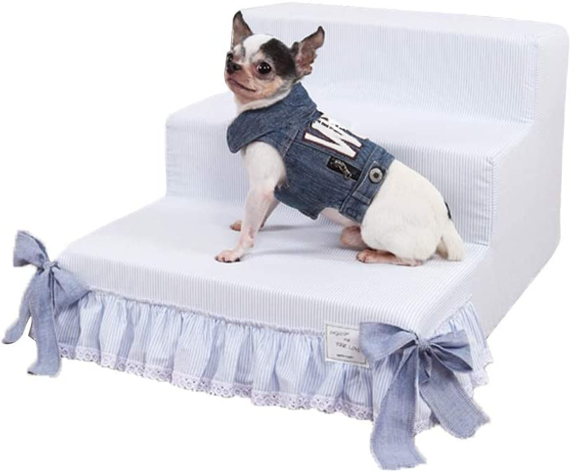 ChengLaoBan Shop Escaleras para mascotas Pasos desmontables Entrenamiento para mascotas Ropa de cama Escaleras Perros pequeños Perros viejos Perros jóvenes Especial Viento en coreano Rampas para masco: Amazon.es: Hogar