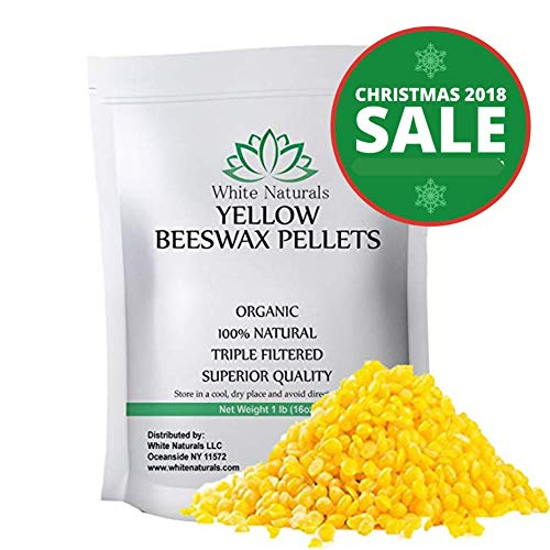 Shea Sunscreen Natural Butter (HOLIDAYS SALE! Beeswax Pellets 1 lb, Yellow, Pure, Natural, Cosmetic Grade, Bees Wax Pastilles, Triple Filtered, Great For DIY Projects, Lip Balms, Lotions, Candles By White Naturals)