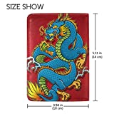 Chinese Dragon Leather Passport Cover - Holder