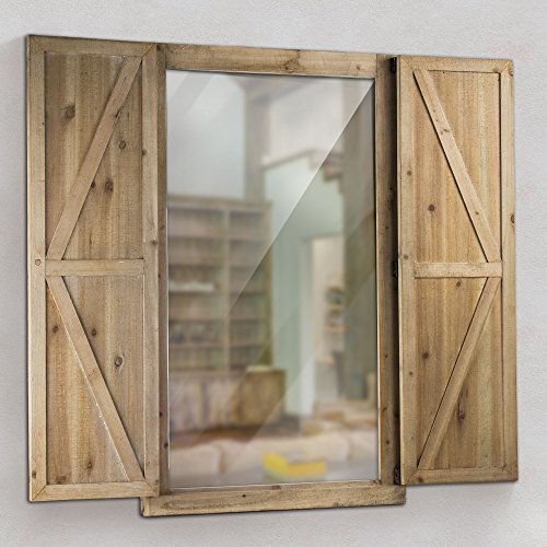 American Décor Wooden Shuttered Hanging Wall Mirror