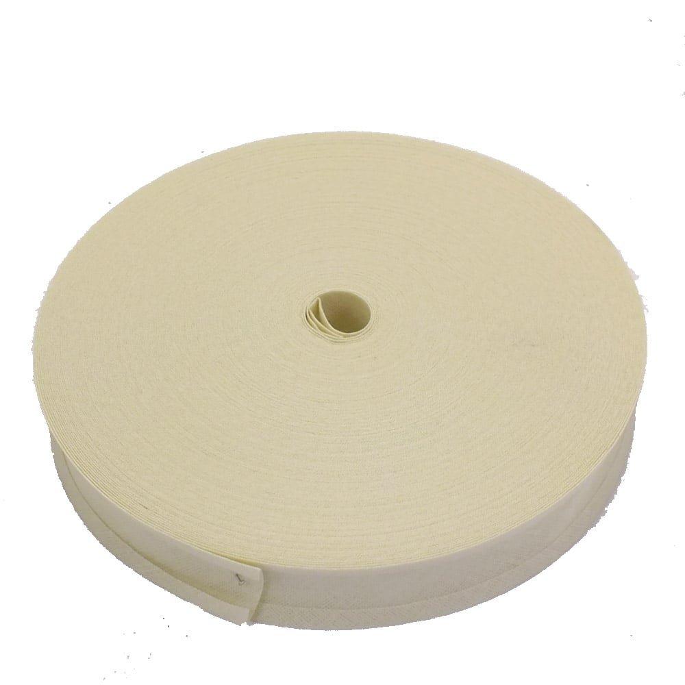25mm Bias Binding Tape Trim 100% Cotton - Cream - 5m The Bead Shop