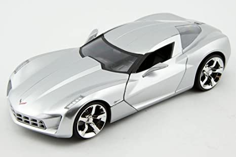 Amazon 2009 Corvette Stingray Concept 124 Silver Toys Games