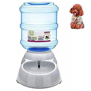 Petacc Waterer automático para mascotas Fuente de agua de gravedad Dispensador de agua para perros práctica Fuente de agua potable para perros y gatos, ...