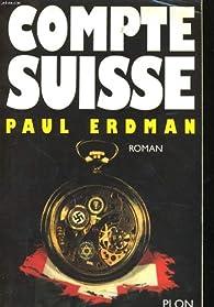 Compte suisse par Paul Emil Erdman