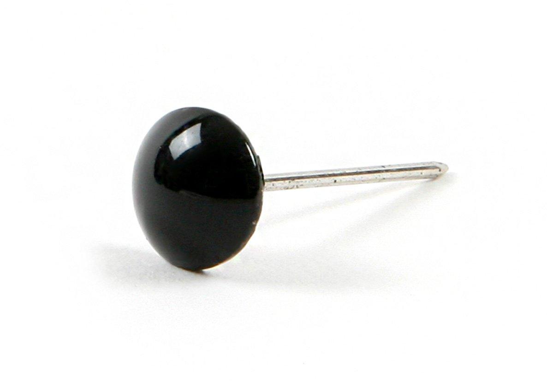 1 inch Decorative Furniture Nail Thumbtacks Push Pins for Furniture Reform & Car Interior : 300ea (± 5ea) (Black - 300ea) by Magic-fix (Image #1)