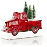 ReLive Christmas Light-Up Snow Globe - Red Truck - 8 x 6.5 Inches