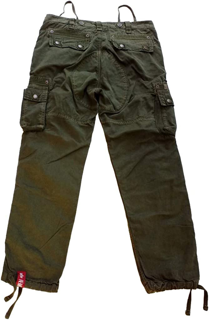 ALPHA INDUSTRIES Rugg Pant Cargohose Baumwolle viele Taschen Dark Olive