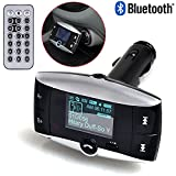 Dealstock Wireless Bluetooth FM Transmitter Modulator Car Kit to play MP3 from Phones Player SD USB LCD with Remote