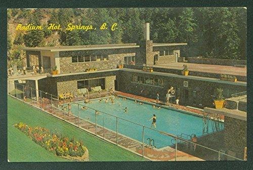 Kootenay Series Aquacourt Radium Hot Springs British Columbia Canada Postcard
