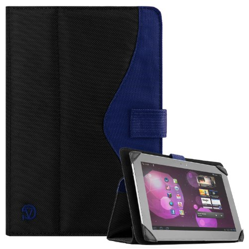 SOHO Portfolio Stand – Nylon Detachable Flip Cover Case (ROYAL BLUE) for Asus Transformer Pad 10.1 Tablets (TF300TL, (Asus Transformer Tf101 Case)