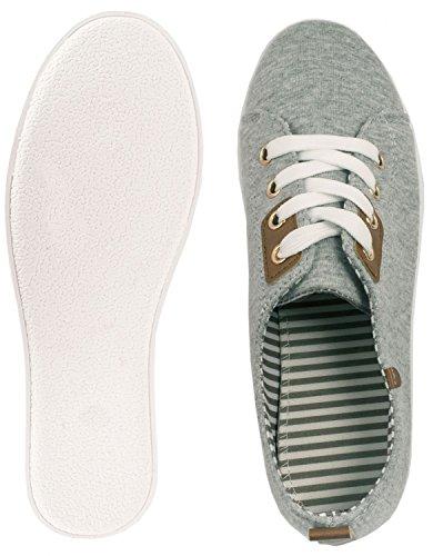 London chunkyrayan Sportlich Low Elara Turnschuhe Grau Bequeme Schnürer Sneakers Basic EPEqx6Rw0z