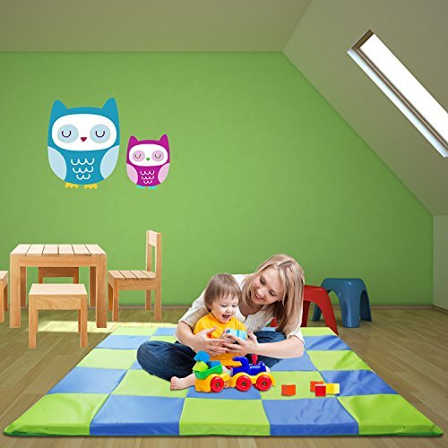 Memory Foam Soft Cushioned Patchwork Baby and Toddler Activity Play Mat by Weisser Toys (Image #2)