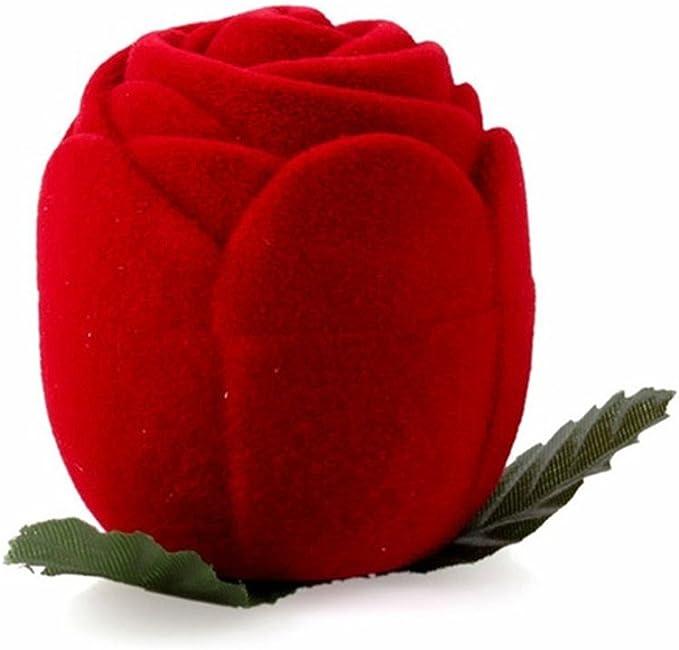anniversaire colliers Pour fian/çailles pendentifs boucles doreilles mariage Profusion Circle Bo/îte /à bijoux en forme de rose rouge pour bague