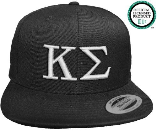 KAPPA SIGMA Flat Brim Snapback Hat White Letters / Kappa Sig Frat | Fraternity Cap