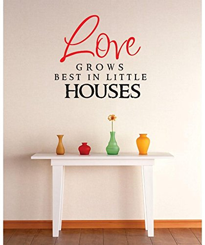 12 x 12 Design with Vinyl RE 2 C 2345 Love Grows Best In Little Houses Image Quote Vinyl Wall Decal Sticker