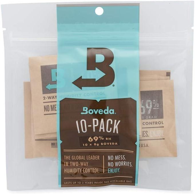 Boveda Humidipak control de dos vías humedad, fórmula humedad relativa del 69%, de tamaño mediano 8 gramos , la cantidad de 10