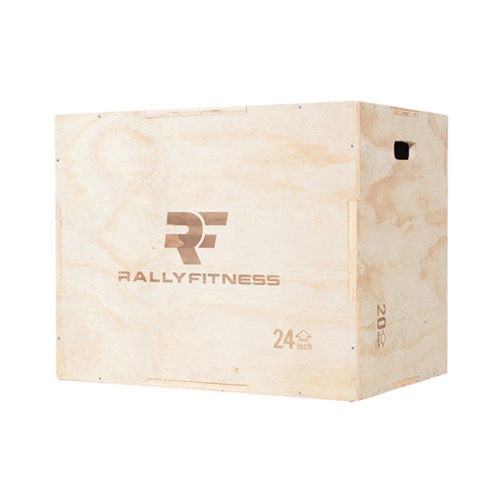 Rally Fitness 3 in 1 Wood Plyometric Box (Adjusts to 20'', 24'' & 30'')