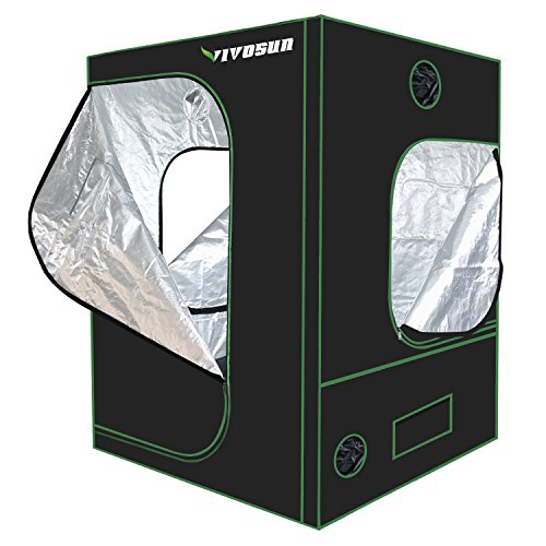 """51eZ%2B8h5oBL - VIVOSUN 60""""x60""""x80"""" Mylar Hydroponic Grow Tent with Observation Window and Floor Tray for Indoor Plant Growing 5'x5'"""